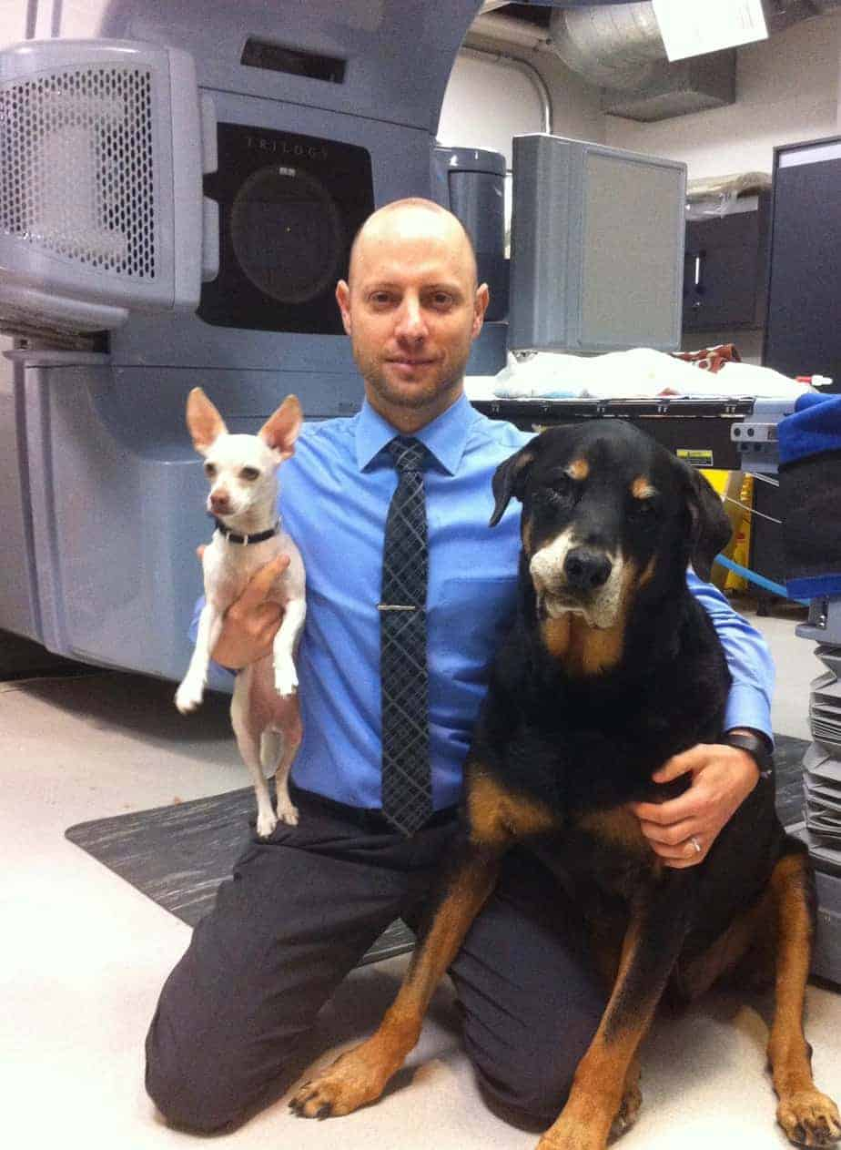 Dr. Jarred Lyons treats canine cancer with stereoctactic radiosurgery.