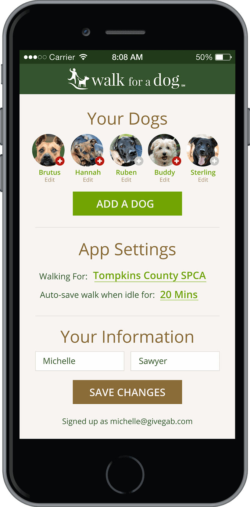 Mobile Dog Pound : Dog walking app helps animal shelters health