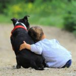 dogs provide health benefits for children.