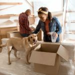 Moving with your dog can be stressful because dogs thrive on routine. Take time to help your dog before, during and after the move.