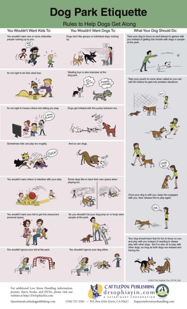Dog Park Etiquette chart