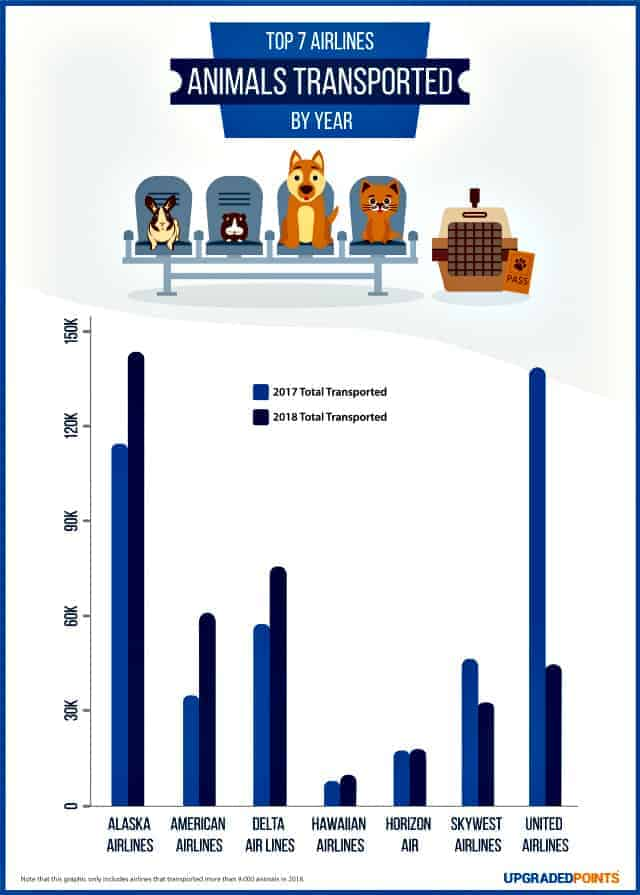 Safest airlines for pets graphic