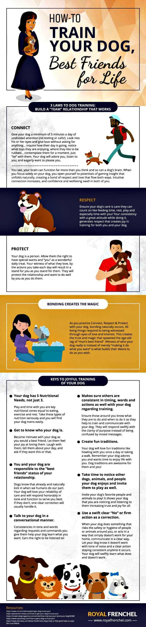 Build trust with your dog graphic