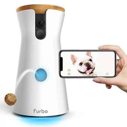 Furbo dog camera. With advanced treat dispensing dog cameras, you can monitor your pets and talk to them whenever you want to while flinging rewarding treats in between.