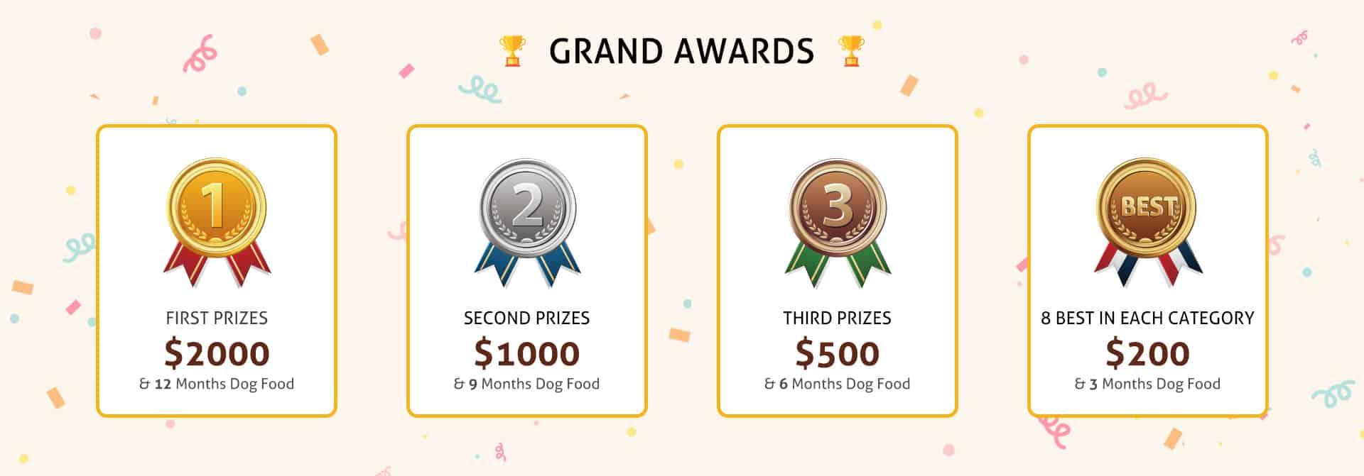 Pawfect Pet Show prizes